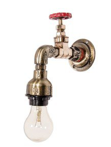 Industrial Pipe Vanity Single Wall Sconce