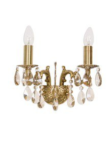 Candle Lamp Honey Crystal Double Sconce