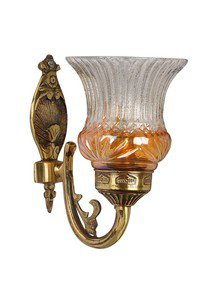 Lustrous Single Antique Brass Wall Light