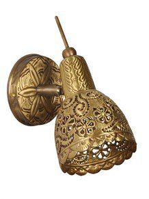 Hand Tooled Single Brass Spot Light