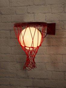 Glowing Basketball In Hoop Wall Sconce Lamp