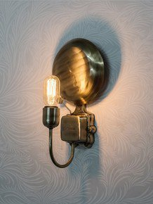 Vintage School Bell Wall Light