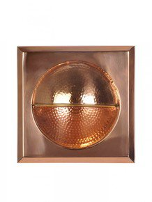 Hammered And Polished Copper Wall Light Fixture; Sealed With Lacquer For Strength And Durability.