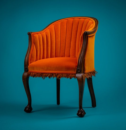 The antique guinea fowl feather 'fascinator' chair. rhubarbchairs treniq 1 1550013881892