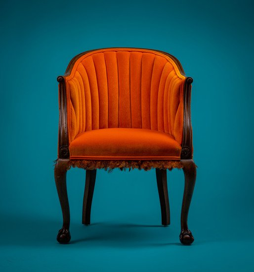 The antique guinea fowl feather 'fascinator' chair. rhubarbchairs treniq 1 1550013886810