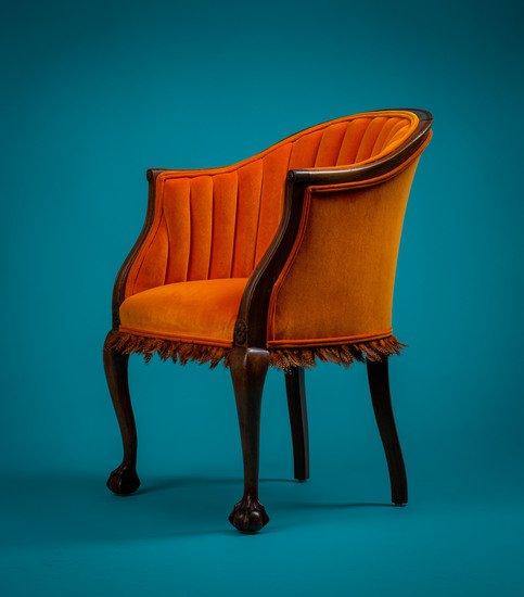 The antique guinea fowl feather 'fascinator' chair. rhubarbchairs treniq 1 1550013901087