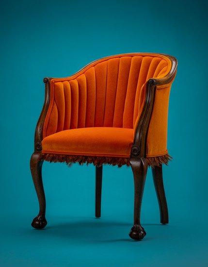 The antique guinea fowl feather 'fascinator' chair. rhubarbchairs treniq 1 1550013912496