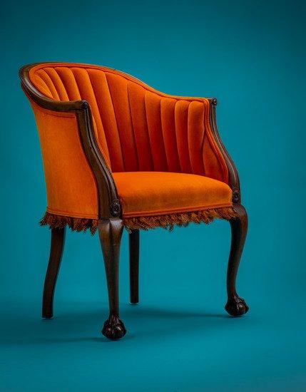 The antique guinea fowl feather 'fascinator' chair. rhubarbchairs treniq 1 1550013928279