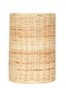 4X6 Woven Cane Pillar Candle