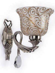 Badam Kapa Single Antique Brass Wall Light