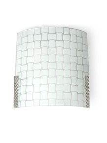 Checkered Glass Double Wall Light