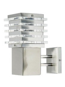 Contemporary Square Stainless Steel Wall Sconce