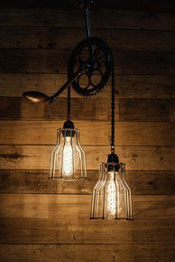 Cycle Gear Chain Ceiling Light