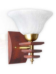 Dolphin Rose Wood Finished Single Wall Light