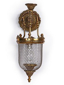 Lattice Portuguese Jar Wall Sconce