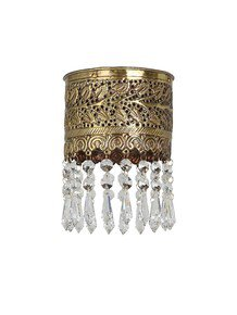 Mini Carved Flush Mount Crystal Ceiling Light