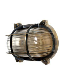 Nautical Steampunk Bulkhead Sconce Light Fixture