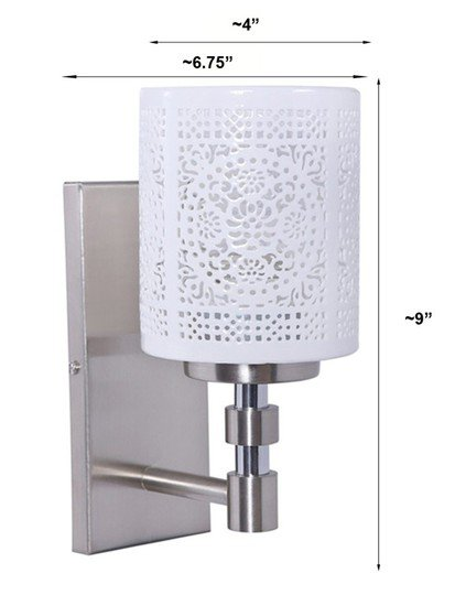 Openwork porcelain single wall sconce 1 1