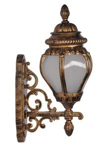 Ornate Victorian Antique Golden Outdoor Wall Light