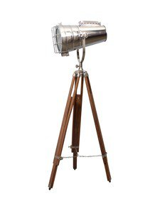 Telescope Adjustable Nickle Floor Lamp