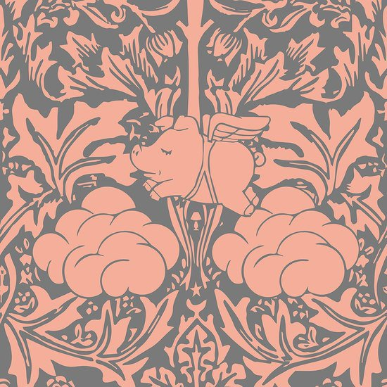 Morris dream   peachy pink and grey wallpaper mineheart treniq 1 1550947216181