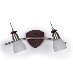 2 Light Wenge Finished Arc Spot Wall Light