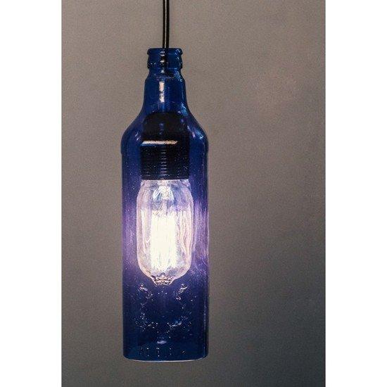 Batli blue bottle pendant light
