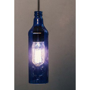Batli Blue Bottle Pendant Light