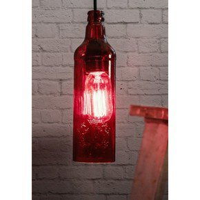 Batli Red Bottle Pendant Light