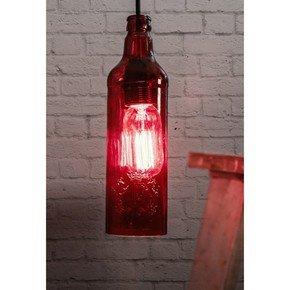 Batli Red Bottle Pendant Light
