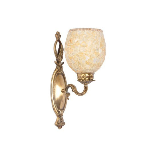 Brass vine single mop wall light1