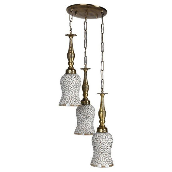 Captivating triple brass hanging light1