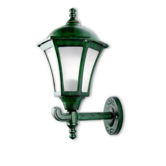 Classic antique green outdoor wall light