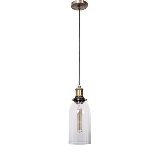 Contemporary clear glass hanging light1