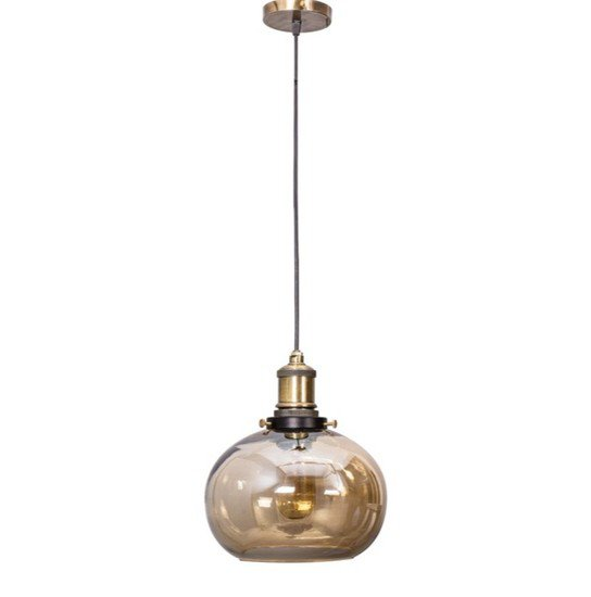 Contemporary lustrous glass bowl hanging light1