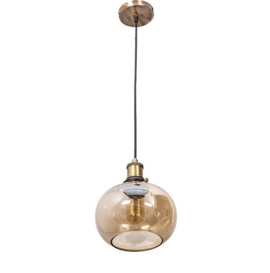Contemporary lustrous glass bowl hanging light2