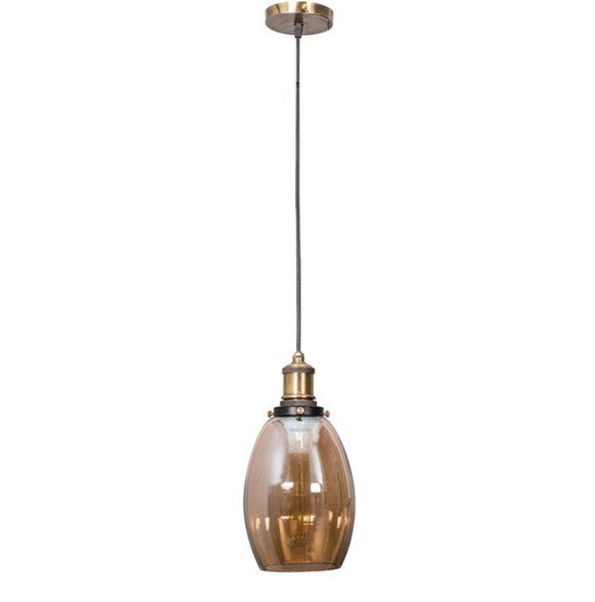 Contemporary lustrous oval glass hanging light2