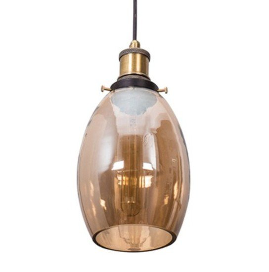 Contemporary lustrous oval glass hanging light1