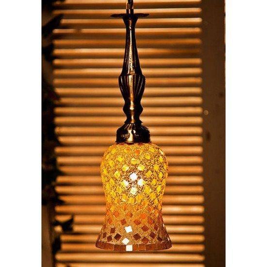 Golden moti brass hanging light