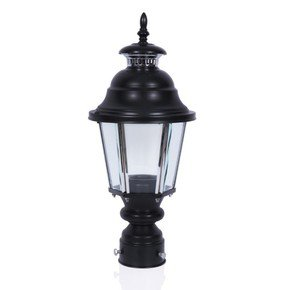 Lantern Style Outdoor Pole Gate Light