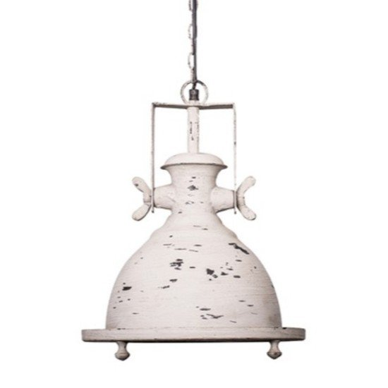 Marine distressed white industrial pendant light2