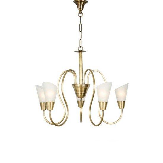 Modern cone antique brass chandelier1