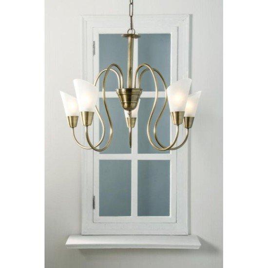 Modern cone antique brass chandelier