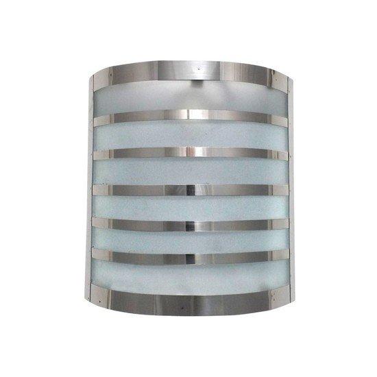 Modern functional chrome stripes wall light