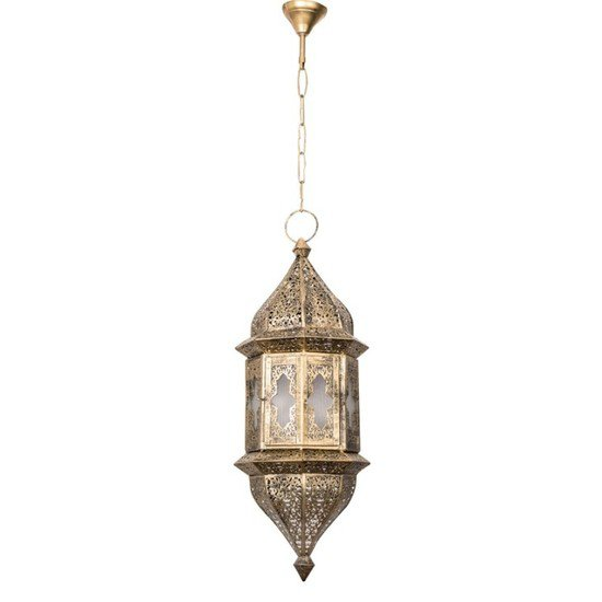 Moroccan glass hanging pendant light1