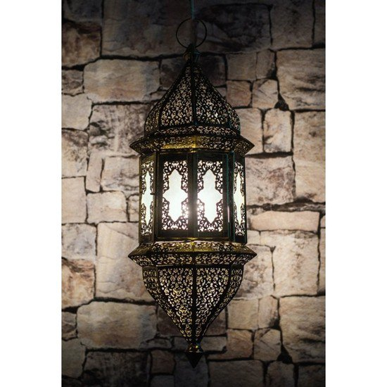 Moroccan glass hanging pendant light3