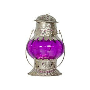 Random Colored Silver Tealight Holder