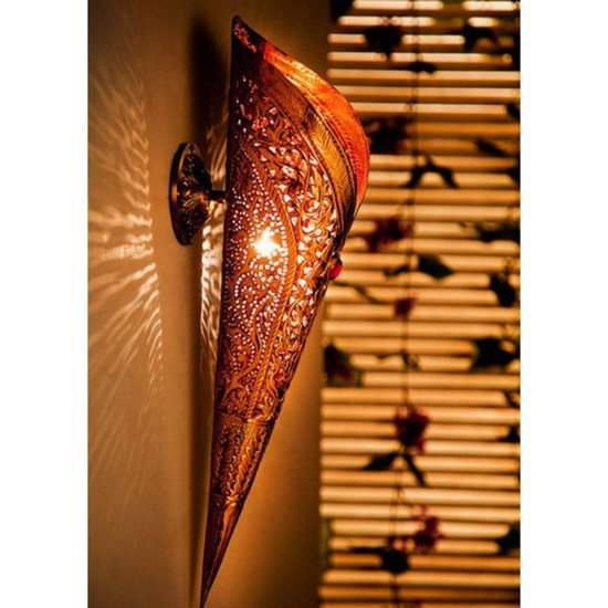Sun mashal small torch wall sconce