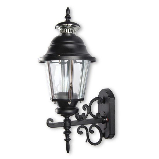 Ornate lantern style outdoor wall light