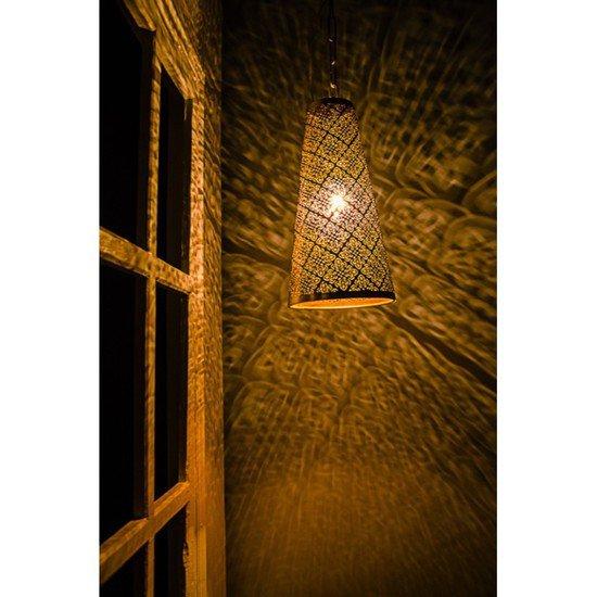 Surreal etched antique gold hanging light2